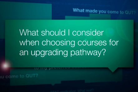 Choosing courses for an upgrading pathway