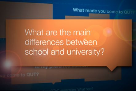 What are the main differences between school and uni?