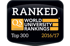 Ranked Top 300 QS World University Rankings 2016/2017