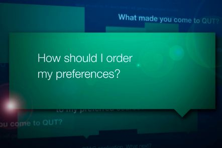 Ordering your preferences