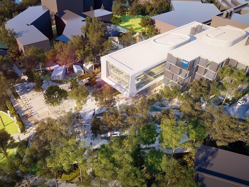 qut kg hwp concept aerial - Qut Medical Centre Gardens Point Campus